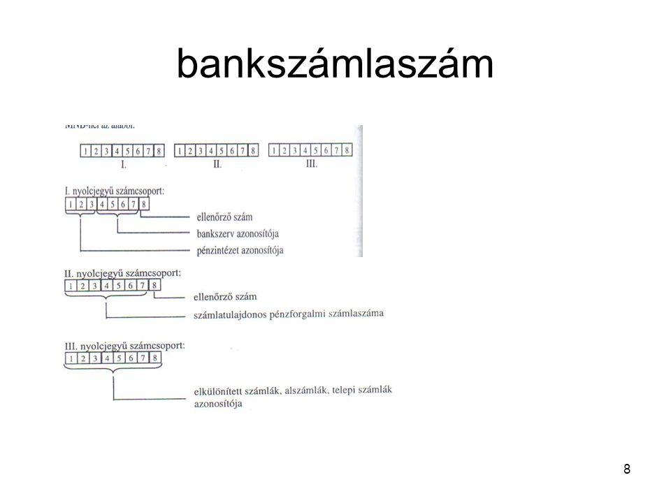 8 bankszámlaszám