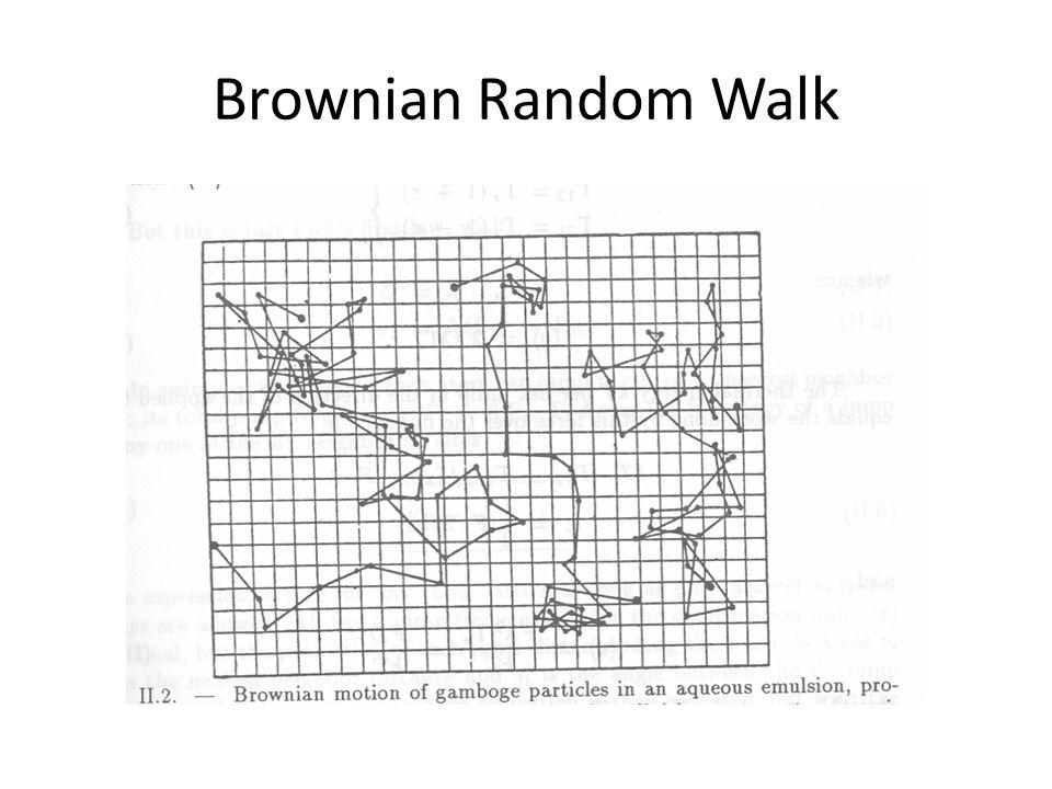 Brown mozgás Brown botanikus 1827-ben vízben lebegő nagyon apró virágporok szabálytalan mozgását figyelte meg mikroszkóp alatt.
