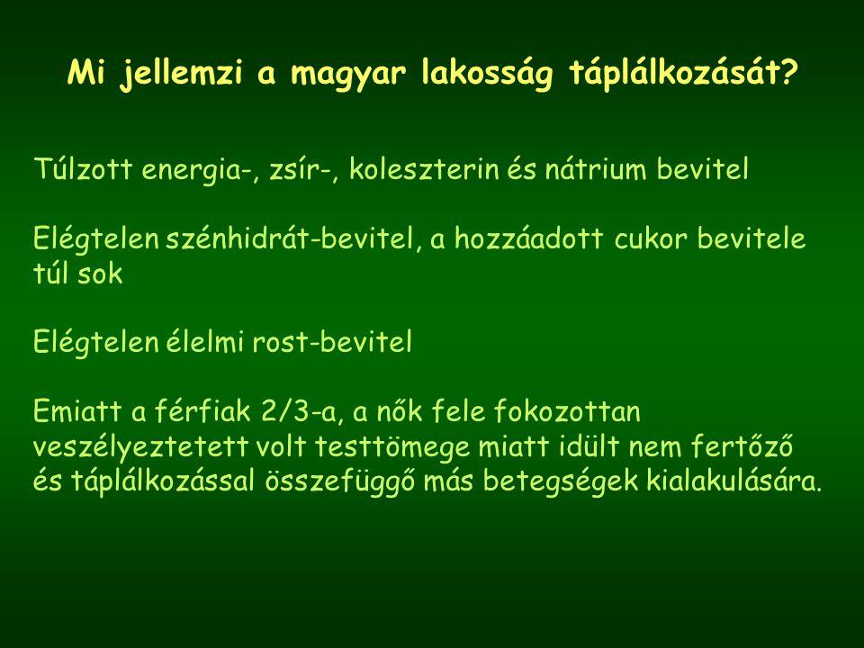 Mi jellemzi a magyar lakosság táplálkozását.