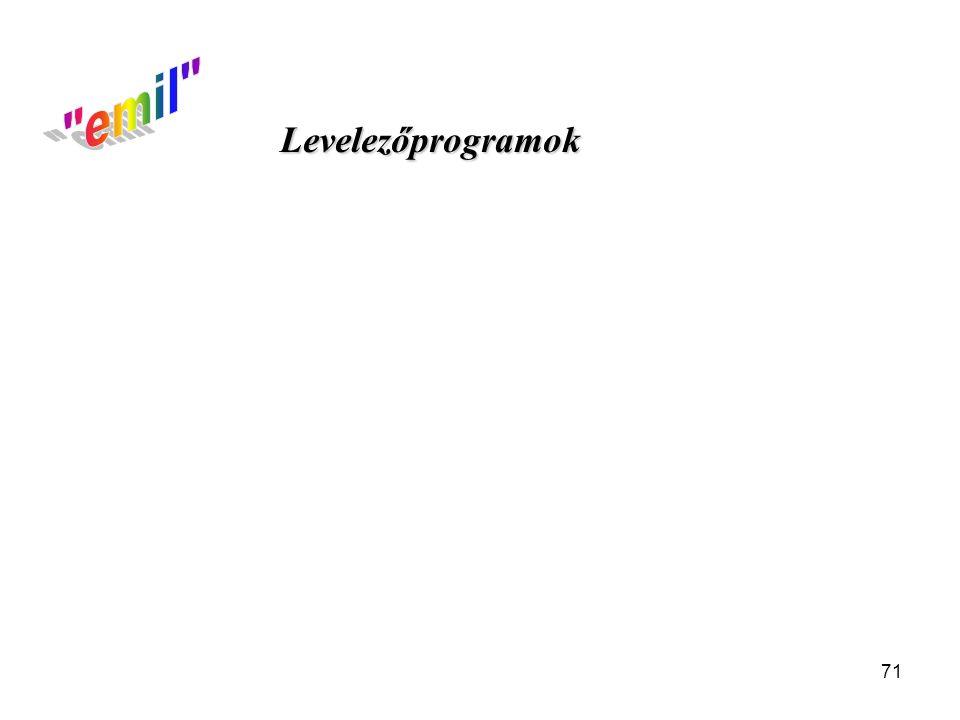 71 Levelezőprogramok