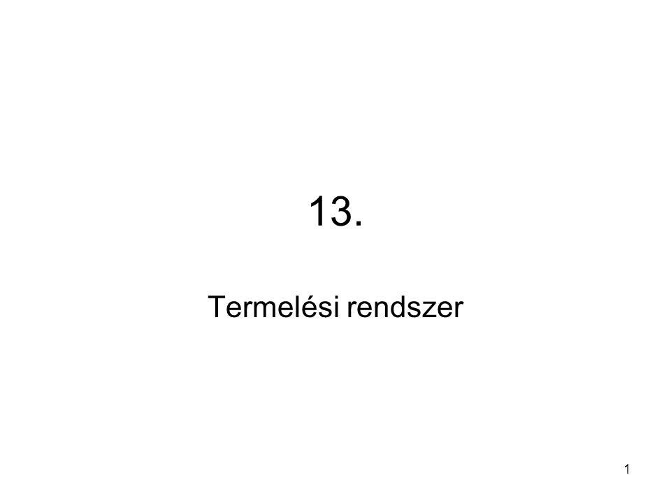 1 13. Termelési rendszer