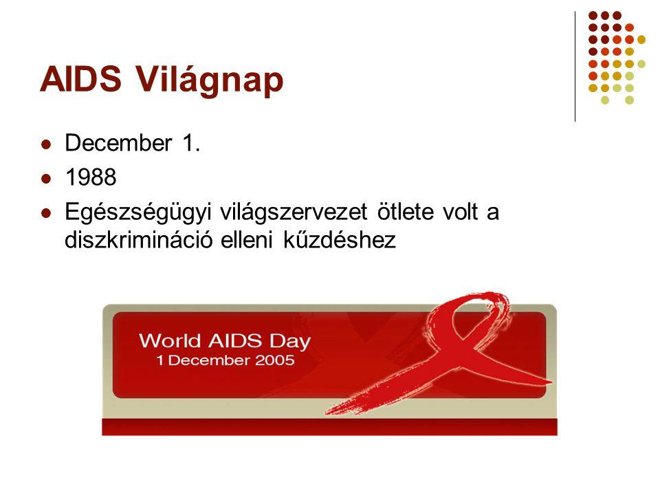 AIDS Világnap December 1.