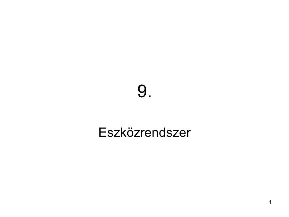 32 Számítógépes rendszerszervezés módszertana Vezetői információk (a rendszer outputjai)