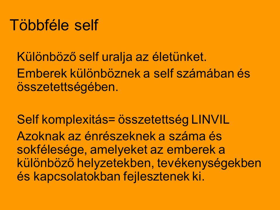 Többféle self Különböző self uralja az életünket.