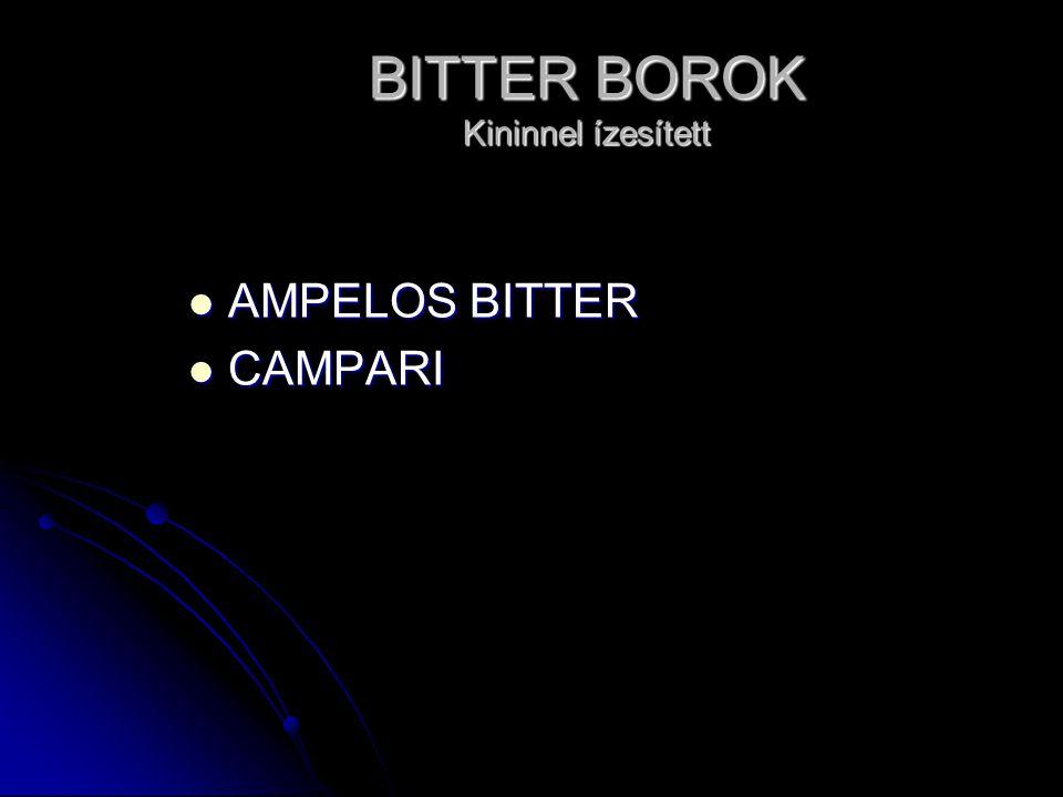 BITTER BOROK Kininnel ízesített AMPELOS BITTER AMPELOS BITTER CAMPARI CAMPARI