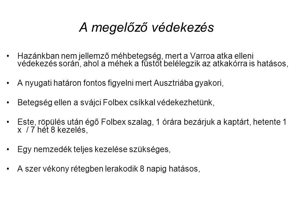 Zárlati intézkedések, a beteg méhcsaládok kiirtása 41/1997. (V. 28.) FM rendelet