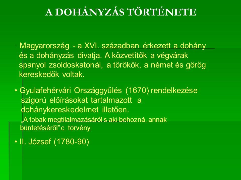 AZ ALKOHOLFOGYASZTÁS KÁROS HATÁSAI Központi idegrendszeri betegségek - személyiségváltozás - hallucinózis - féltékenység - paranoia - Wernicke-Korsakow-szindróma (bevérzések az agy egyes területein emlékezetzavar, bénulások) - alkoholos demencia - delirium tremens Szexuális élet zavarai - impotencia (gynecomastia, heresorvadás)