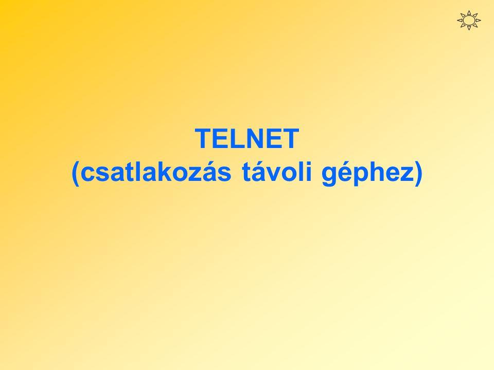 TELNET (csatlakozás távoli géphez)