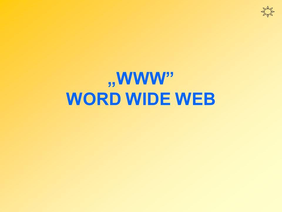 """""""WWW"""" WORD WIDE WEB"""