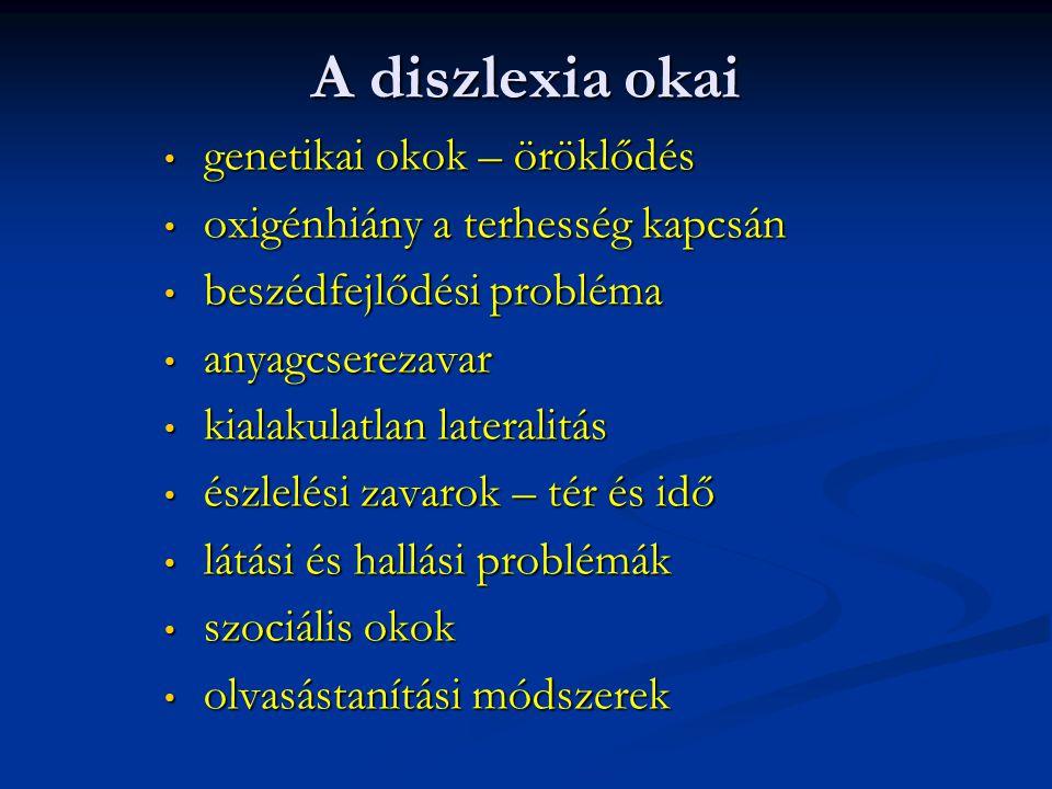 Hová soroljuk a diszlexiát.A diszlexia nem betegség.