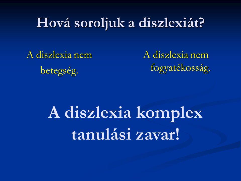 A diszlexia tünetei Tünetegyüttesek: külső megjelenés külső megjelenés viselkedés és aktivitás területén mutatkozó zavarok viselkedés és aktivitás területén mutatkozó zavarok