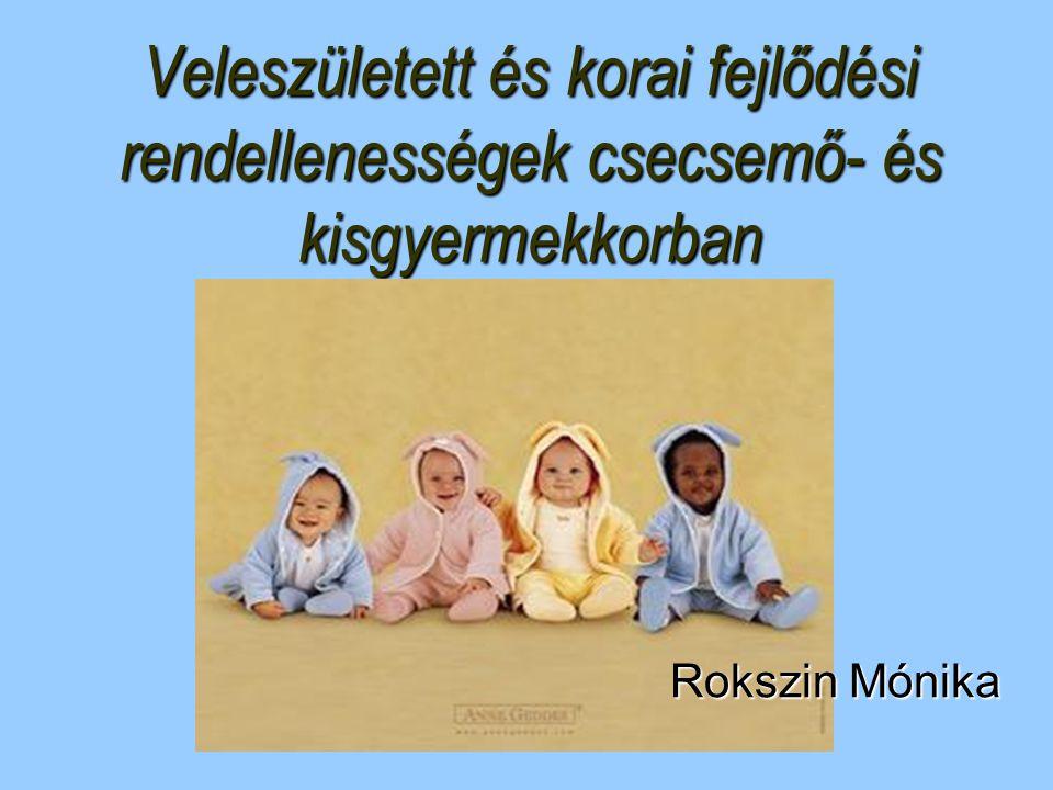 Veleszületett és korai fejlődési rendellenességek csecsemő- és kisgyermekkorban Rokszin Mónika