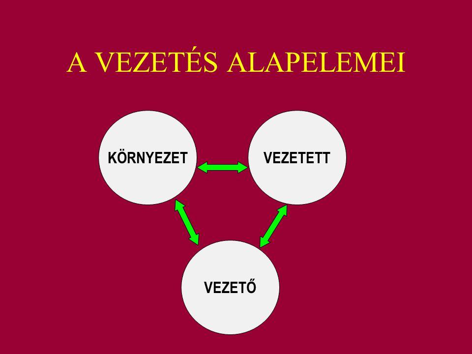 A VEZETÉS ALAPELEMEI KÖRNYEZETVEZETETT VEZETŐ