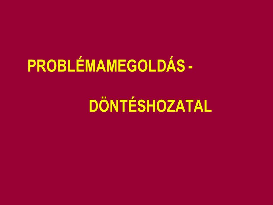 PROBLÉMAMEGOLDÁS - DÖNTÉSHOZATAL