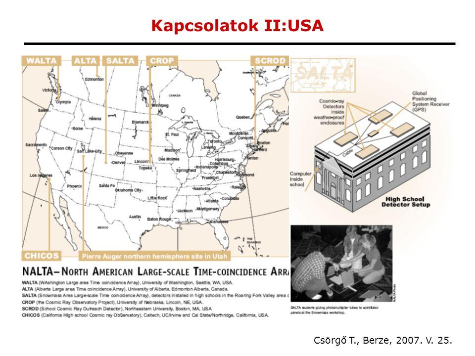 Kapcsolatok II:USA Csörgő T., Berze, 2007. V. 25.