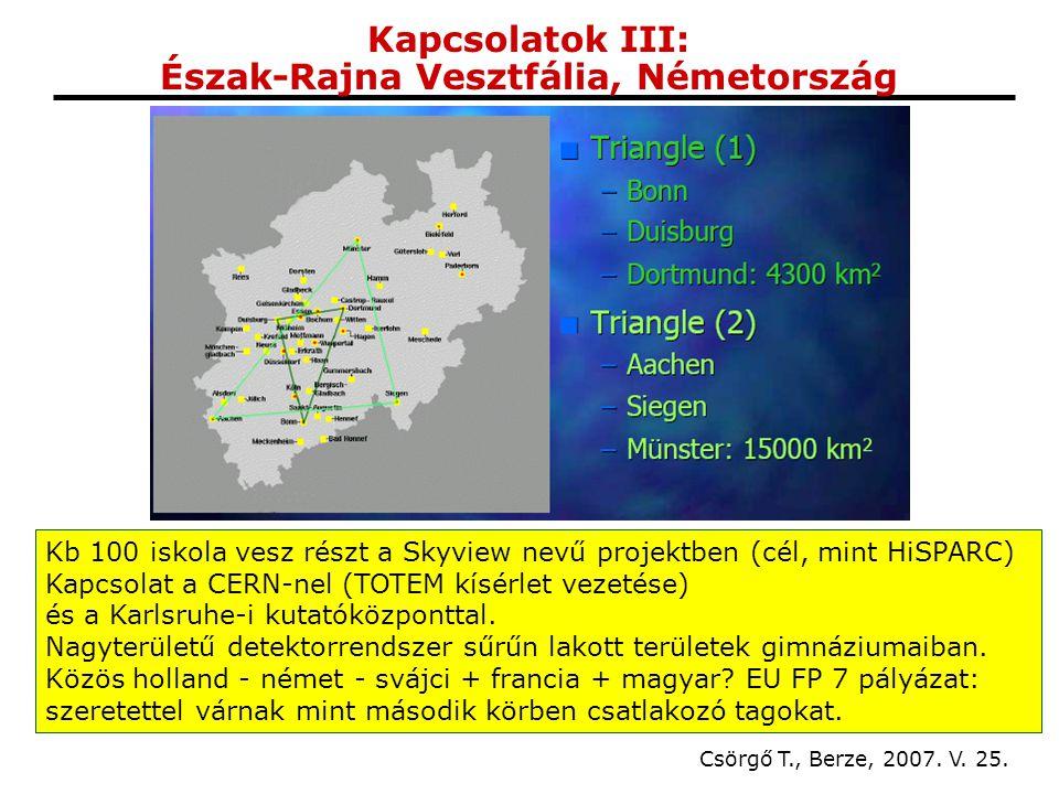 Kapcsolatok III: Észak-Rajna Vesztfália, Németország Csörgő T., Berze, 2007.