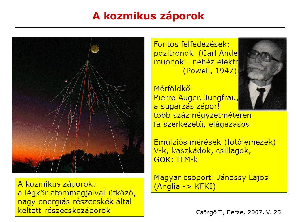 A kozmikus záporok Csörgő T., Berze, 2007. V. 25.