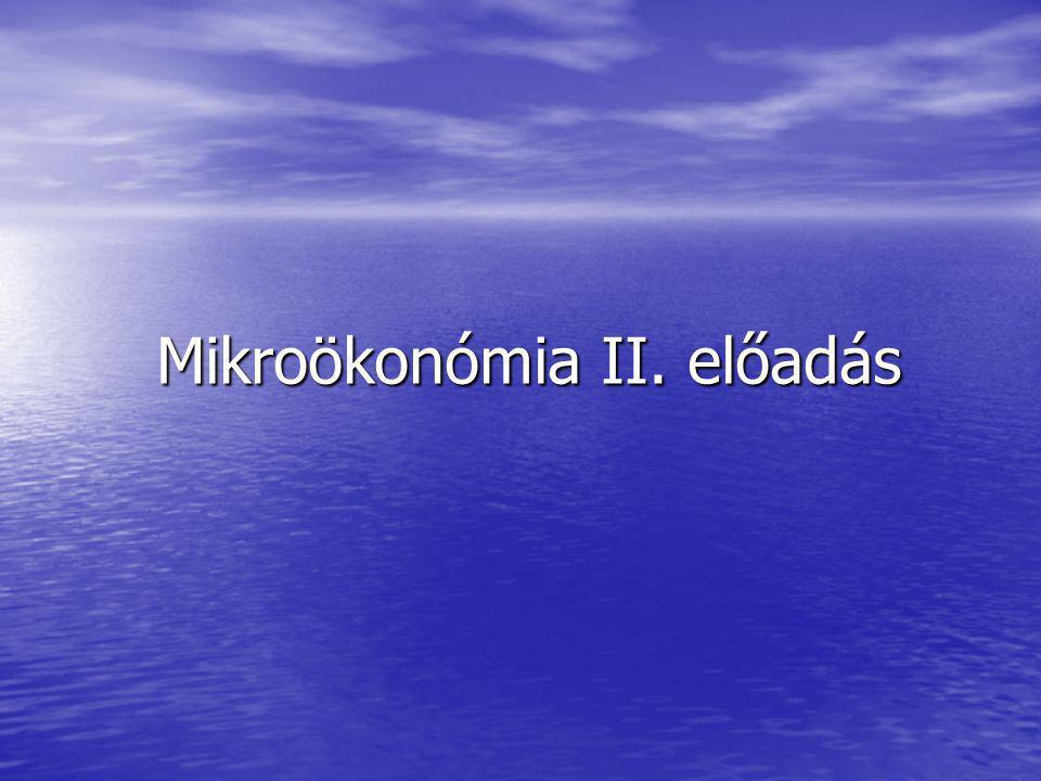 Mikroökonómia II. előadás