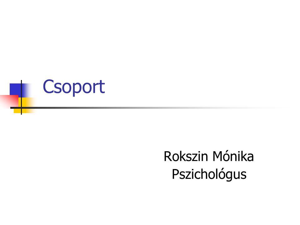 Csoport Rokszin Mónika Pszichológus