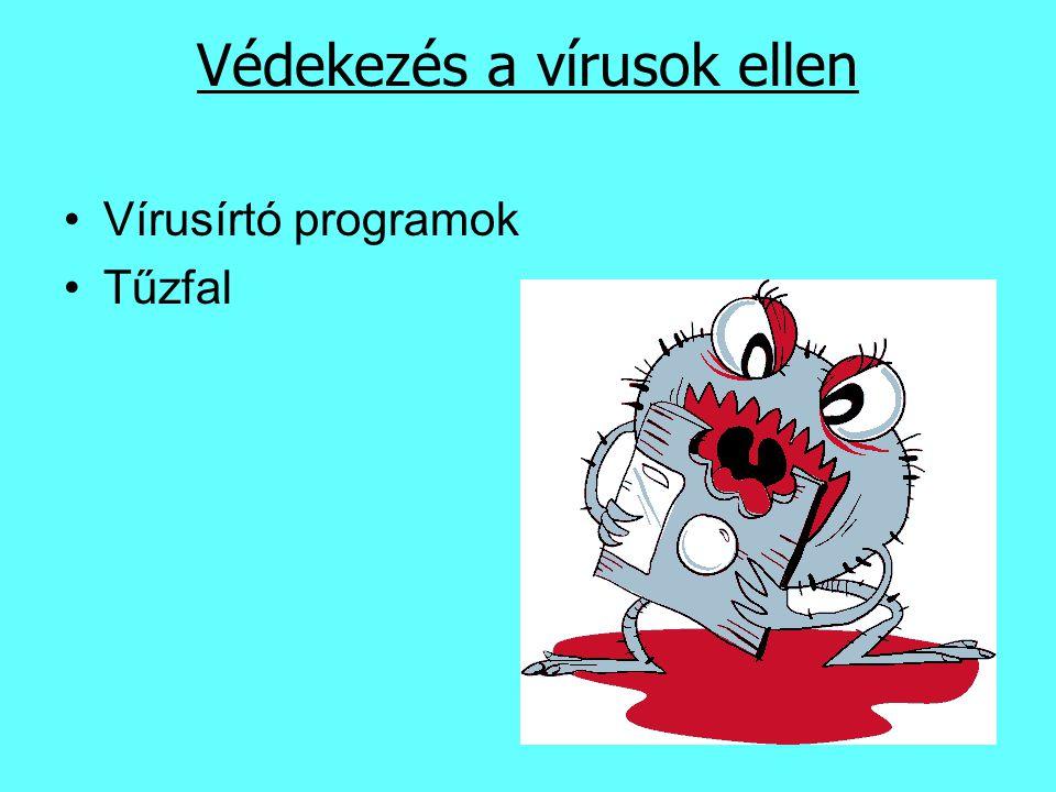 Védekezés a vírusok ellen Vírusírtó programok Tűzfal