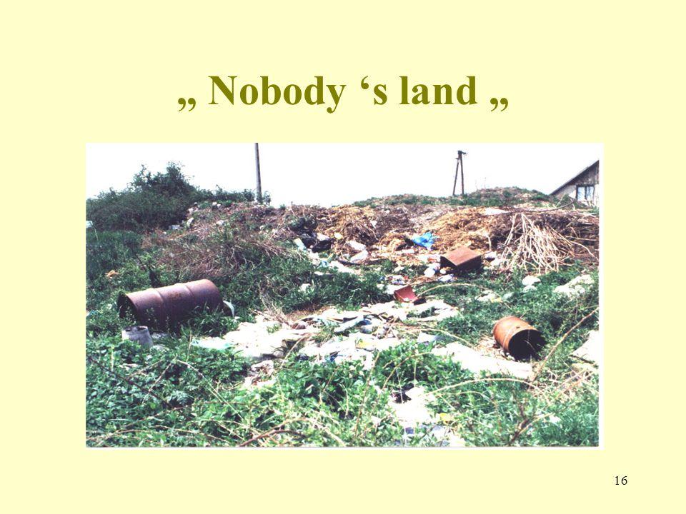 """16 """" Nobody 's land """""""
