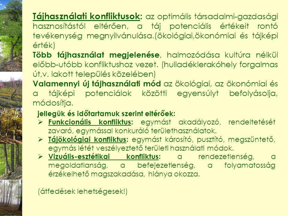 19 A tervezés területi egységei Természet alkotta területegységek Nagytájak Középtájak Kistájcsoportok Kistájak