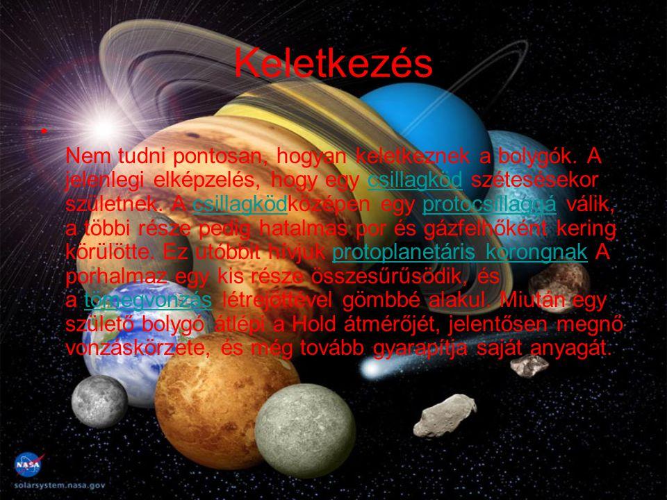 Keletkezés Nem tudni pontosan, hogyan keletkeznek a bolygók. A jelenlegi elképzelés, hogy egy csillagköd szétesésekor születnek. A csillagködközépen e