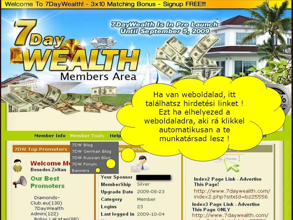 Ha van weboldalad, itt találhatsz hirdetési linket .