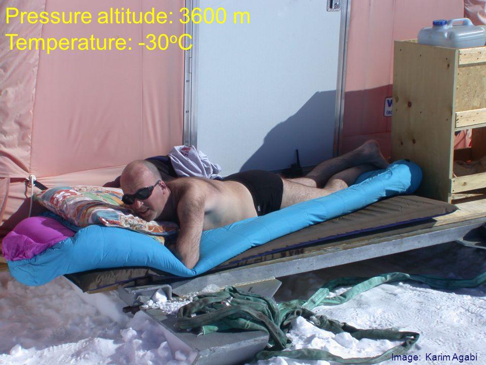 Gyöngyös – 2006. november 11. Ábrahám Péter 37 Konkoly Obszervatórium Image: Karim Agabi Pressure altitude: 3600 m Temperature: -30 o C