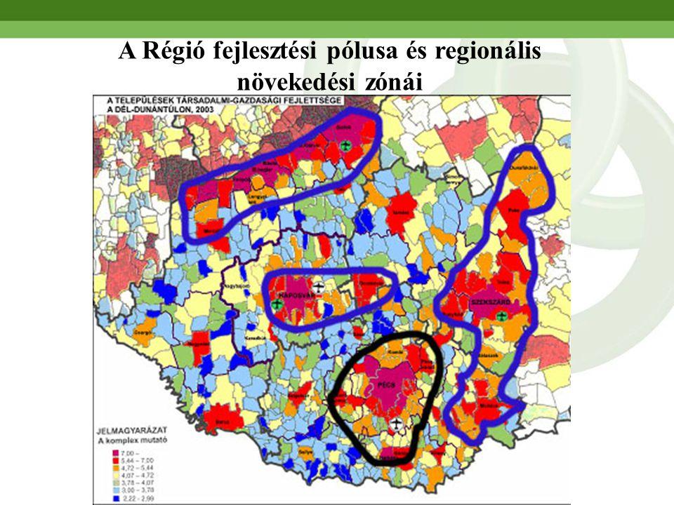 A Régió fejlesztési pólusa és regionális növekedési zónái
