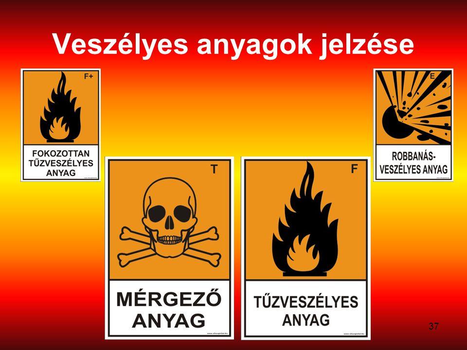 37 Veszélyes anyagok jelzése