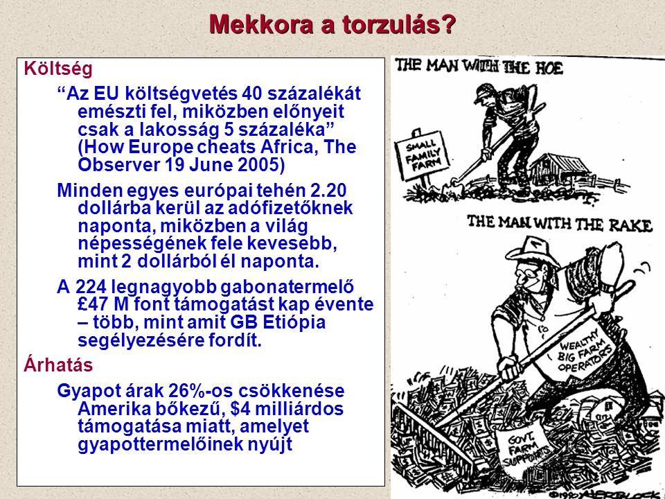 """Mekkora a torzulás? Költség """"Az EU költségvetés 40 százalékát emészti fel, miközben előnyeit csak a lakosság 5 százaléka"""" (How Europe cheats Africa, T"""