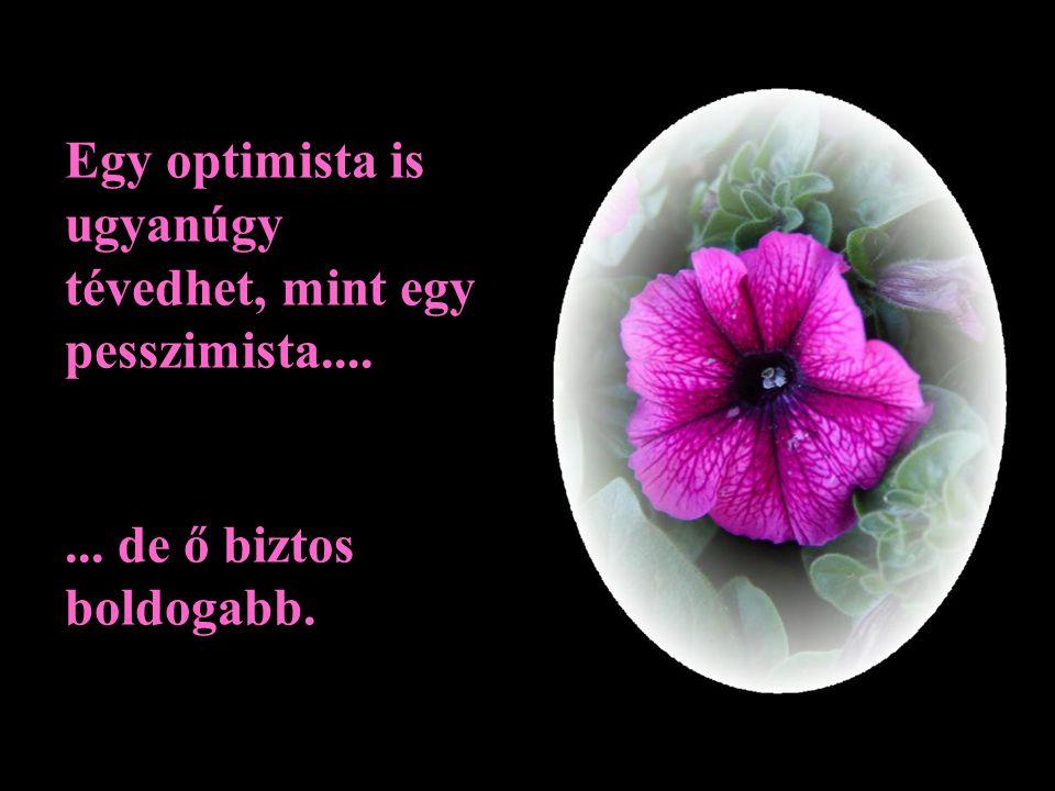 Egy optimista is ugyanúgy tévedhet, mint egy pesszimista....... de ő biztos boldogabb.