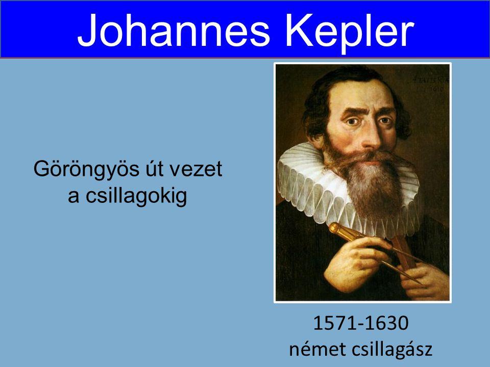 Johannes Kepler 1571-1630 német csillagász Göröngyös út vezet a csillagokig