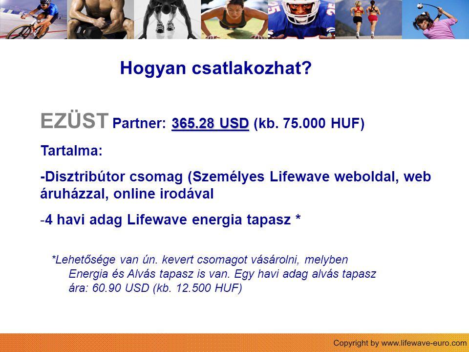 Sie Hogyan csatlakozhat.365.28 USD EZÜST Partner: 365.28 USD (kb.