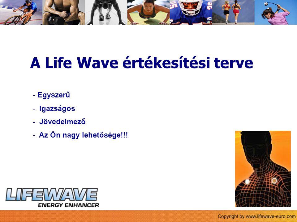 Sie A Life Wave értékesítési terve - Egyszerű - Igazságos - Jövedelmező - Az Ön nagy lehetősége!!!