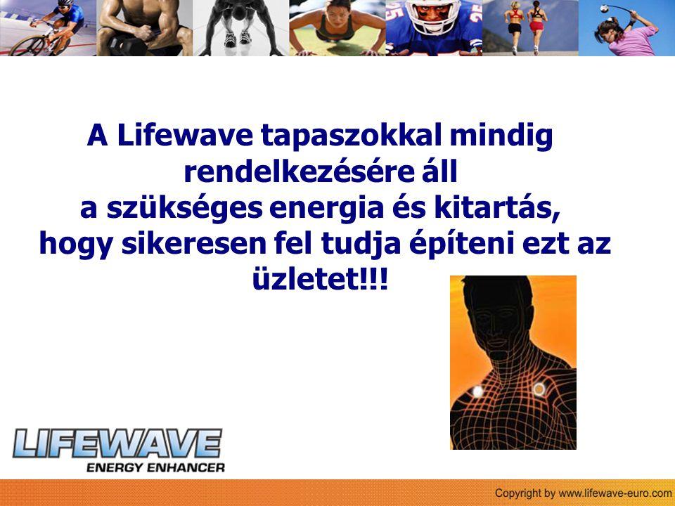 Sie A Lifewave tapaszokkal mindig rendelkezésére áll a szükséges energia és kitartás, hogy sikeresen fel tudja építeni ezt az üzletet!!!