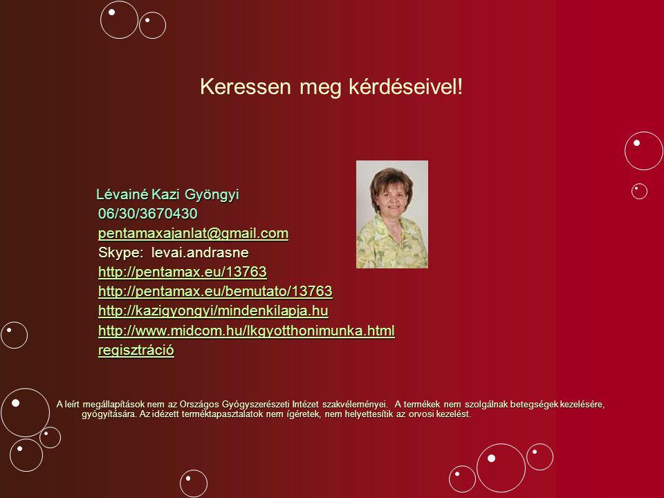Keressen meg kérdéseivel! Lévainé Kazi Gyöngyi Lévainé Kazi Gyöngyi 06/30/3670430 06/30/3670430 pentamaxajanlat@gmail.com pentamaxajanlat@gmail.compen