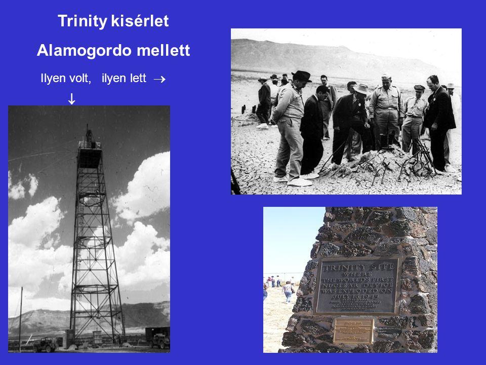 TrinityTrinity site Trinity kisérlet Alamogordo mellett Ilyen volt, ilyen lett  