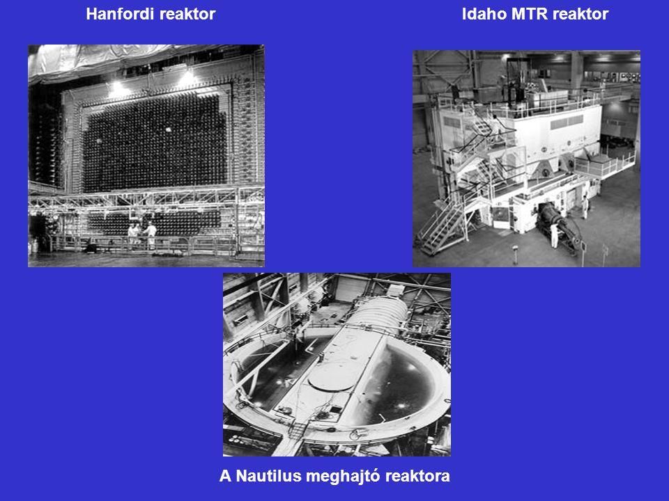 Hanfordi reaktor Idaho MTR reaktor A Nautilus meghajtó reaktora