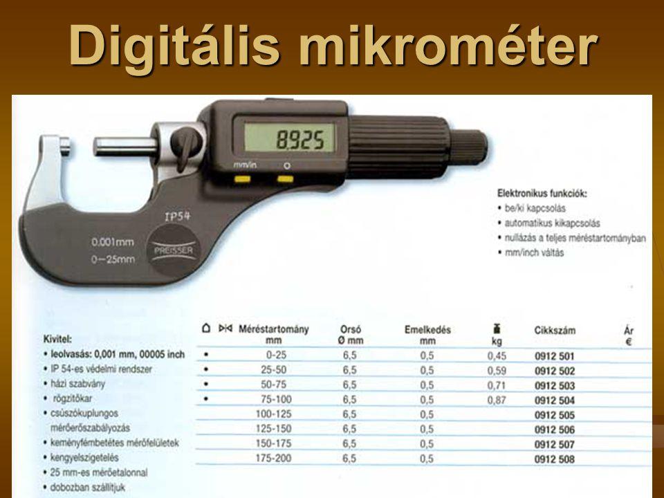 Digitális mikrométer
