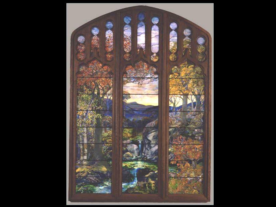 Üvegfestő Tiffany művészeti törekvései, az ólomüveg, szélesebb körű elismerést hozott számára.