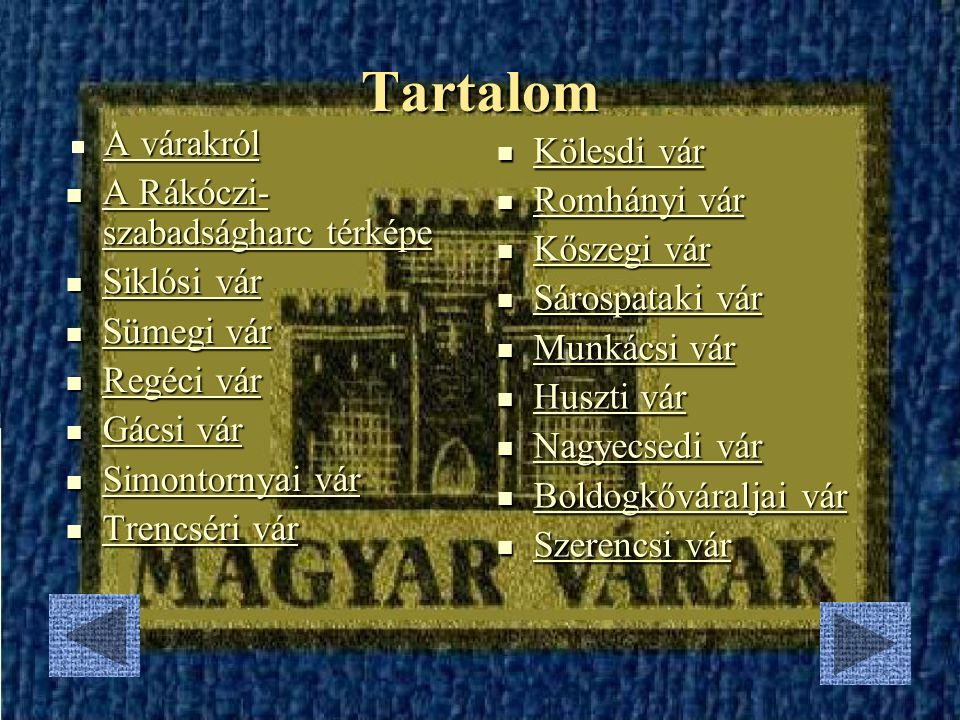 Magyar várak 2007. március 27.