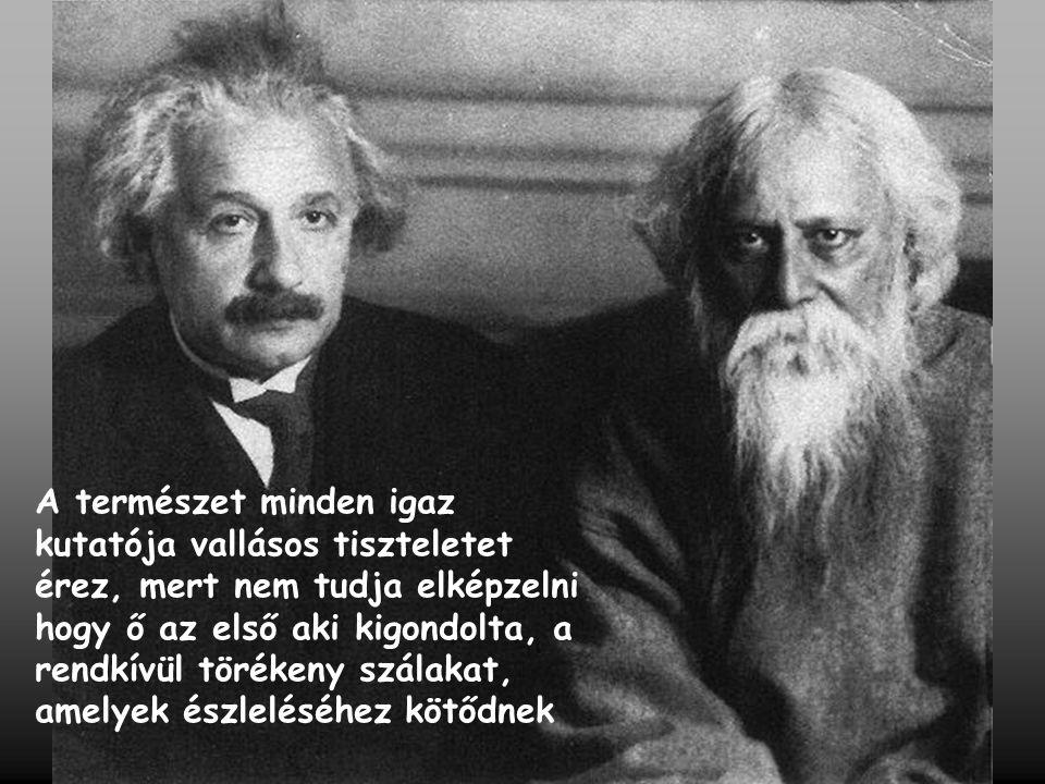 A természet minden igaz kutatója vallásos tiszteletet érez, mert nem tudja elképzelni hogy ő az első aki kigondolta, a rendkívül törékeny szálakat, am