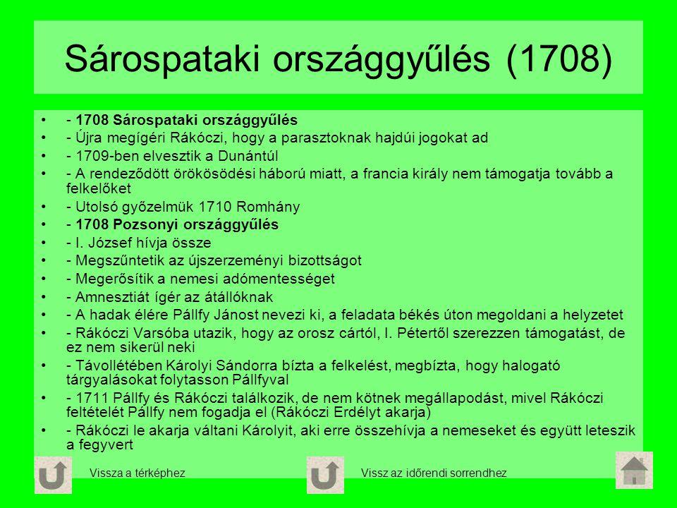 Sárospataki országgyűlés (1708) - 1708 Sárospataki országgyűlés - Újra megígéri Rákóczi, hogy a parasztoknak hajdúi jogokat ad - 1709-ben elvesztik a