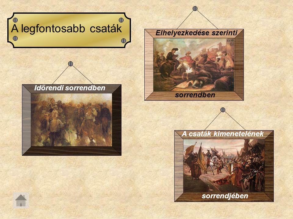 A Felvidéki hadjárat A felkelés elsõ évében - 1703-ban - két hadjáratot folytatott a hadsereg.