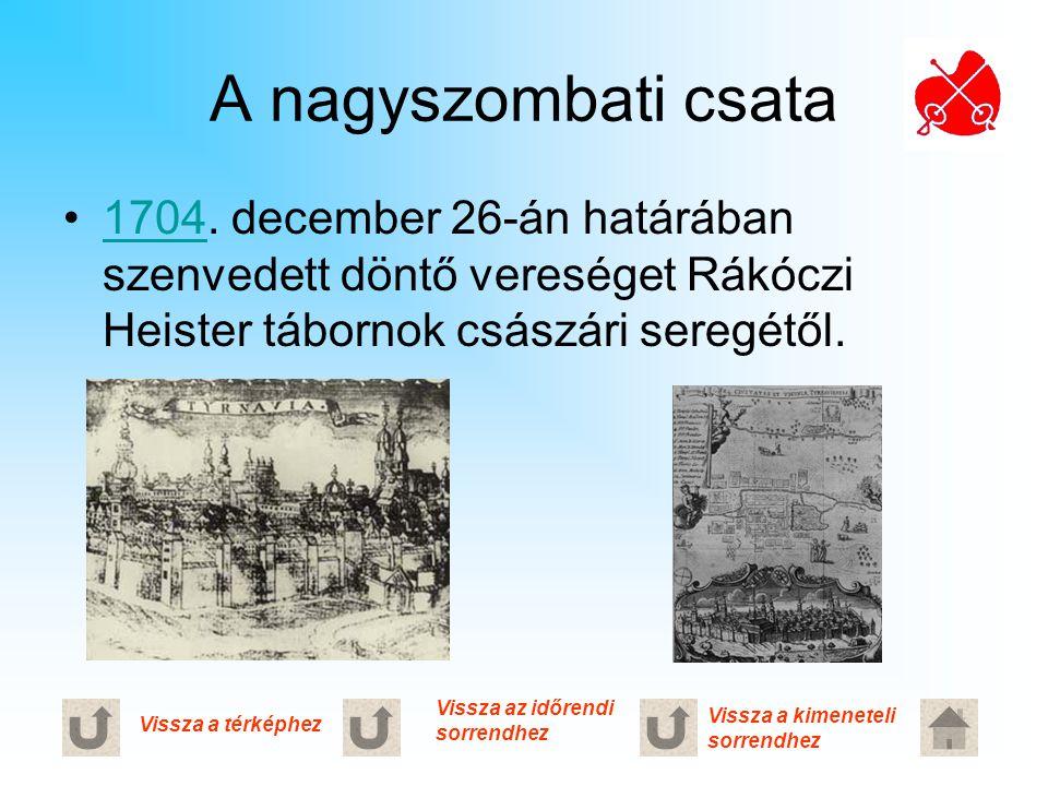 A nagyszombati csata 1704. december 26-án határában szenvedett döntő vereséget Rákóczi Heister tábornok császári seregétől.1704 Vissza a térképhez Vis