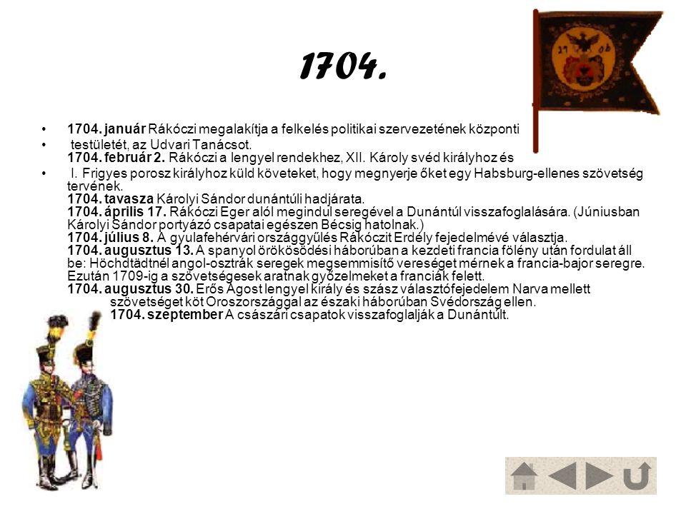 A gyulafehérvári országgyűlés (1704) 1704-ben a gyulafehérvári országgyűlésen Rákóczit Erdély fejedelmévé választják.
