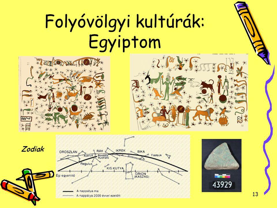 13 Folyóvölgyi kultúrák: Egyiptom Zodiak