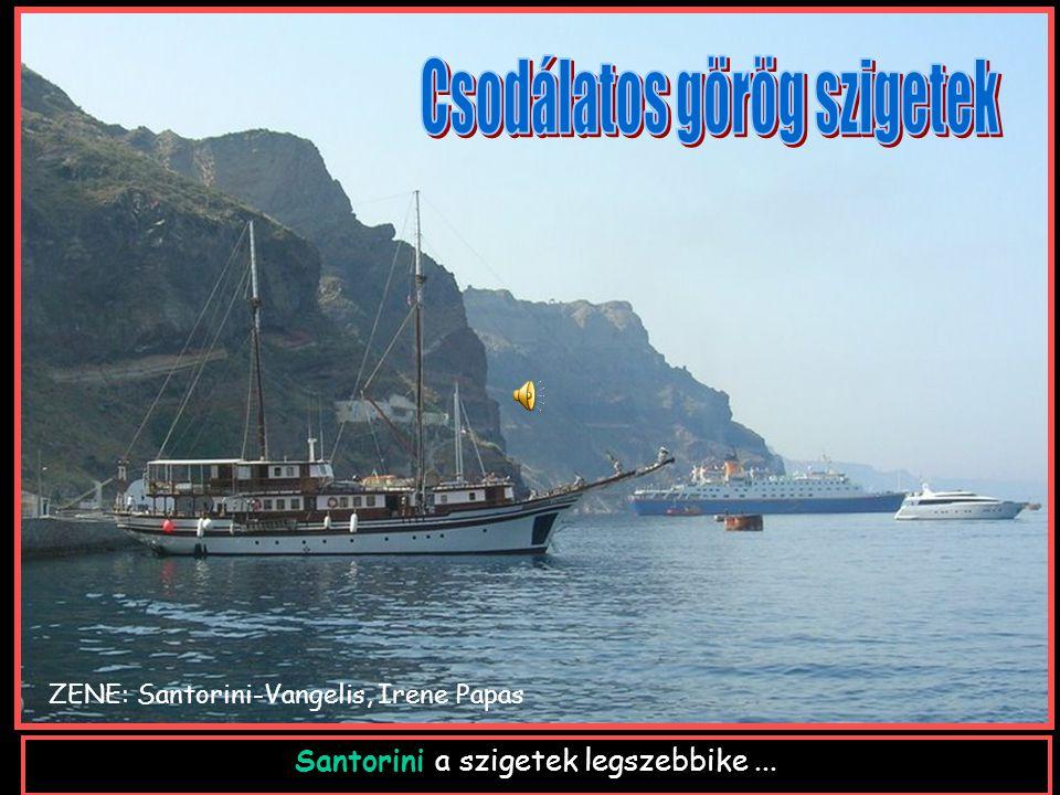 Santorini a szigetek legszebbike... ZENE: Santorini-Vangelis, Irene Papas